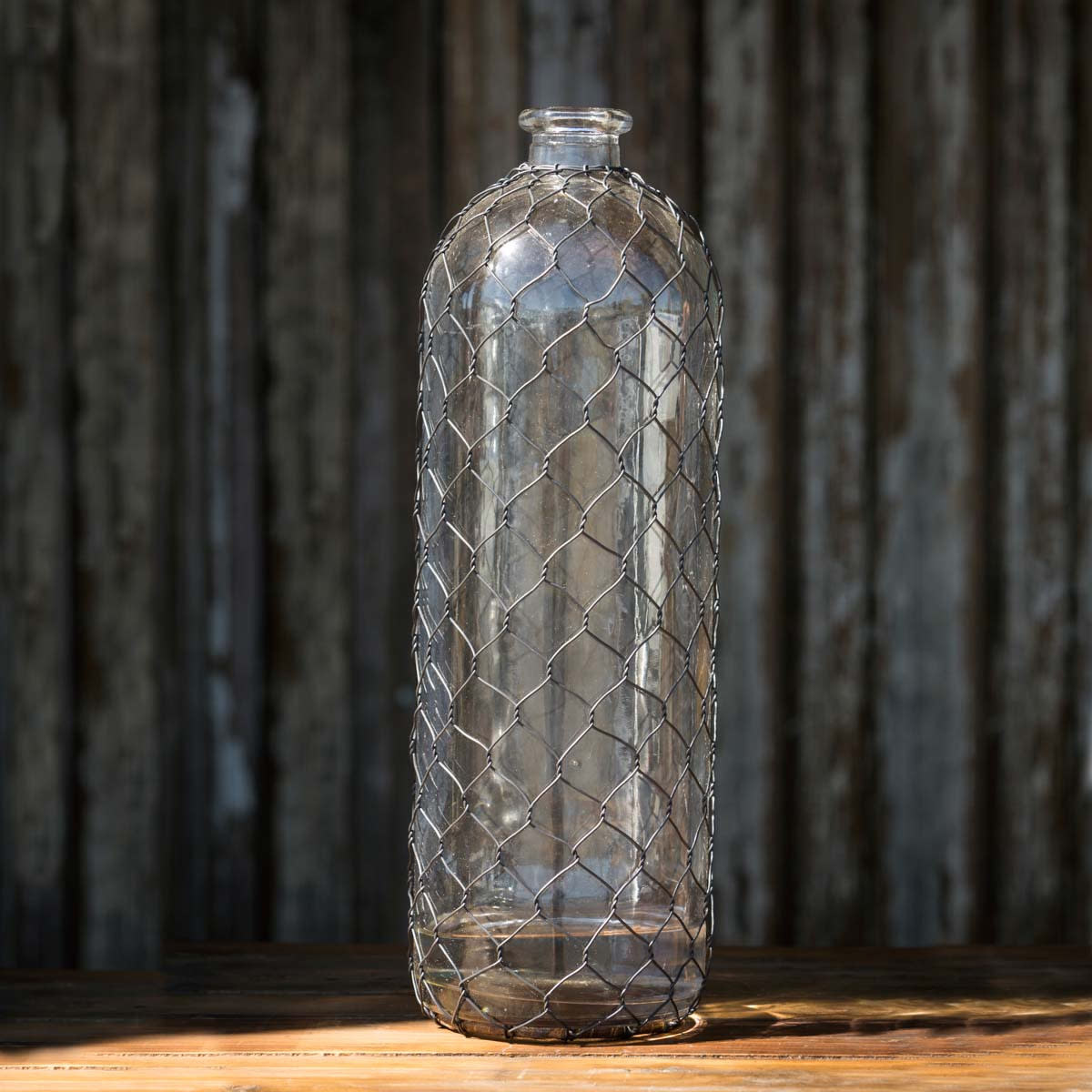 Bottle with Poultry Wire, 16""