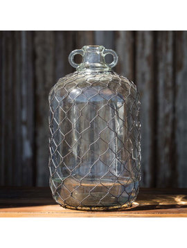 Moonshine Jug with Poultry Wire