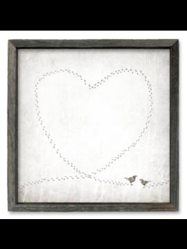 Sweet Gumball Love Birds Shelf Art