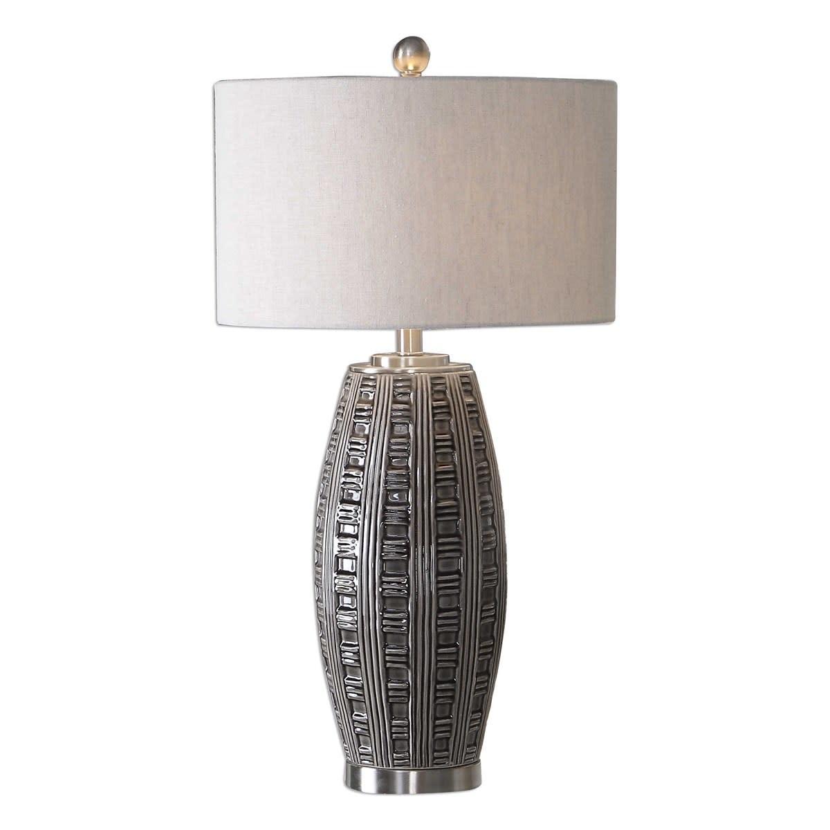 Uttermost Gray Glaze Table Lamp