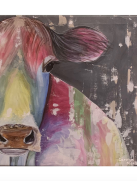 Carolyn Marshall Rainbow Cow