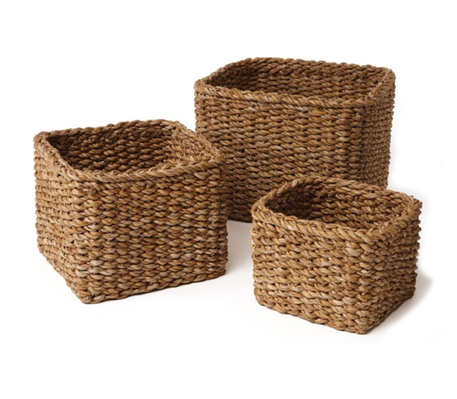 Seagrass Mini Square Basket