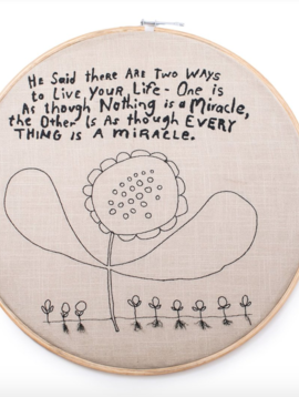 Sugarboo & Co. Two ways to live Embroidery Hoop