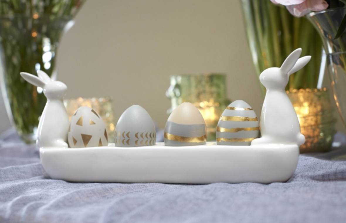 "Accent Decor Patch Egg Holder 12.75""x 2.5""x 5.25"
