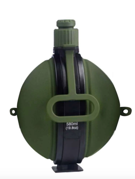 Mad Man Green Collapsible BPA Free Hot/Cold Canteen