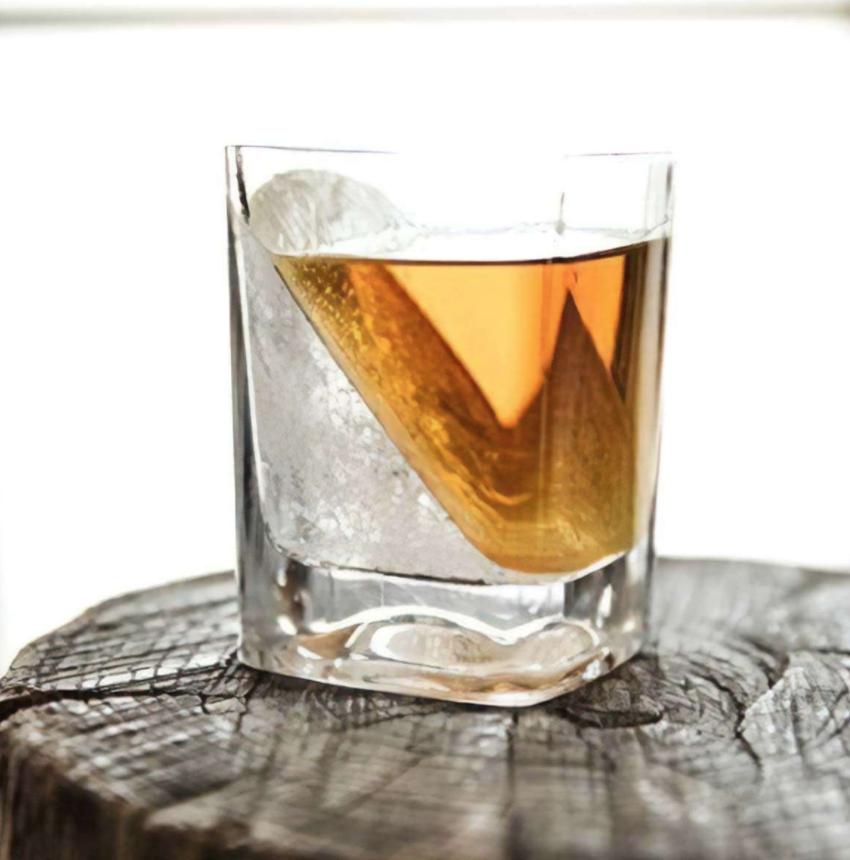 Mad Man Black Whiskey Wedge (set of 2)