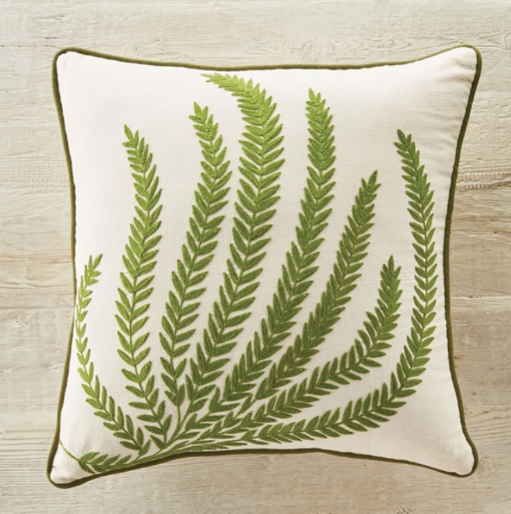 """Fern 18"""" Square Pillow"""
