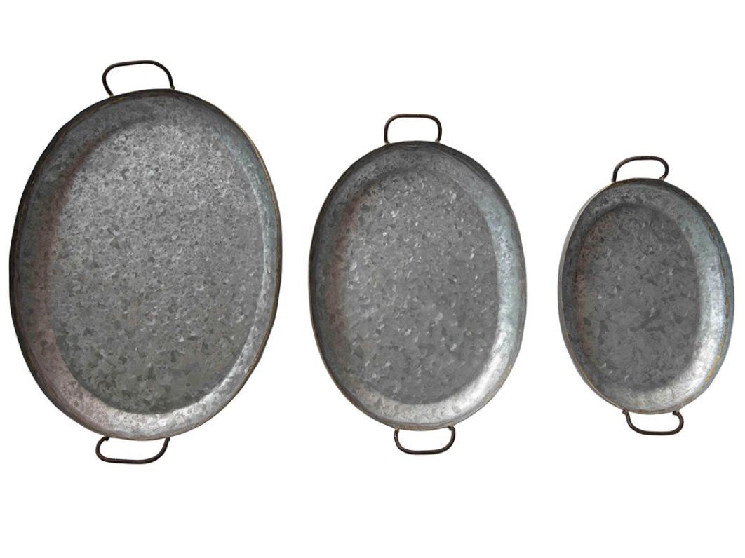 Decorative Galvanized Metal Trays