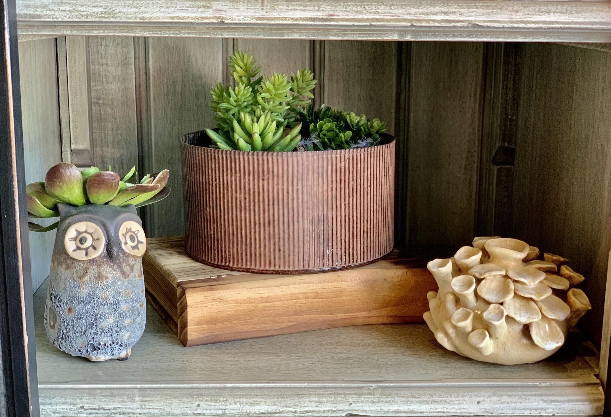 Stoneware Owl Vase