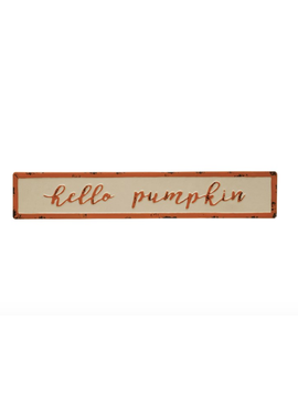 Hello Pumpkin Sign