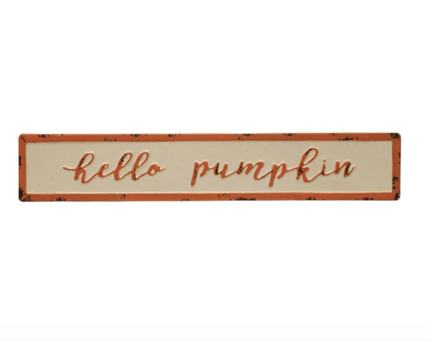 Hello Pumpkin Sign