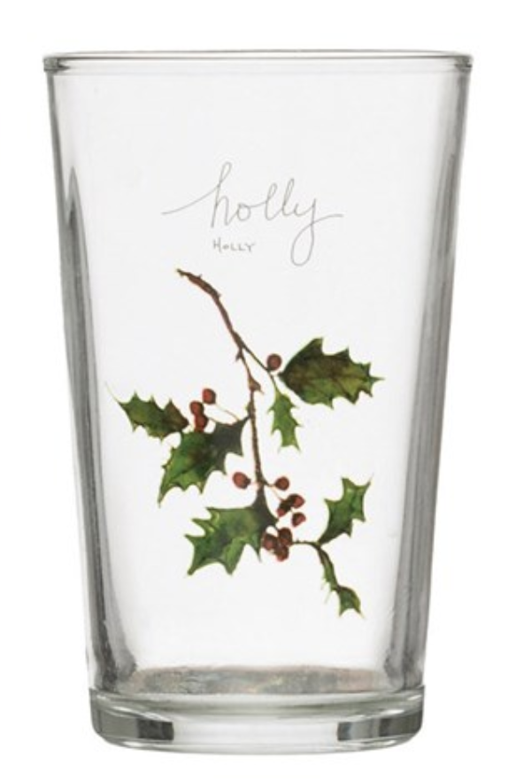 Holiday Drinking Glass