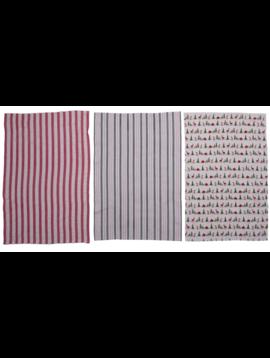 "28'x18"" Woven Cotton Tea Towel Christmas Bear/Penguin"