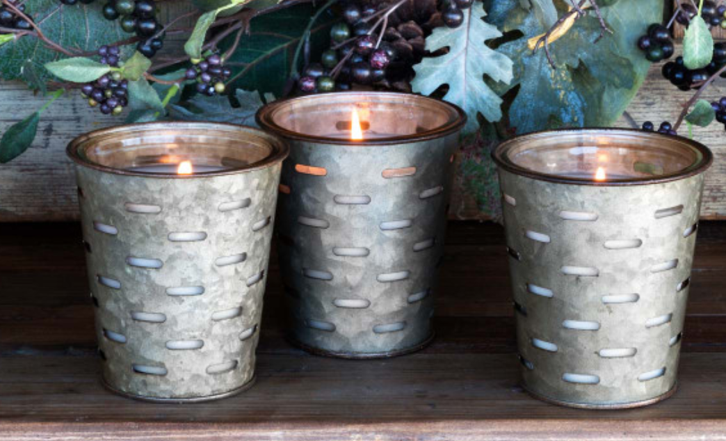 Frost On The Pumpkins Olive Bucket Candle