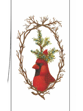 Paper Products Design Red Cardinal Kitchen Towel Christmas