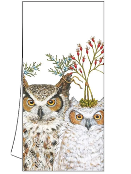 Paper Products Design Owl Hoot Kitchen Towel Christmas