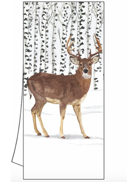 Paper Products Design Winter Deer Kitchen Towel Christmas