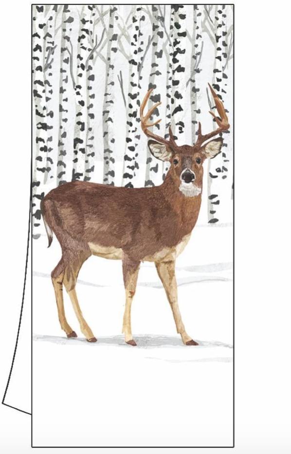Paper Products Design Winter Deer Kitchen Towel Christmas