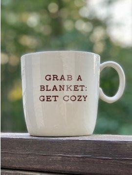 "Stoneware Mug Fall ""Grab A Blanket"""