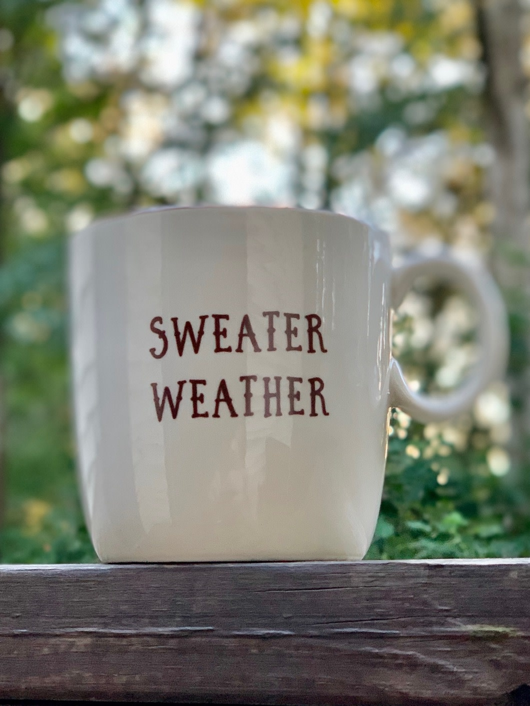 "Stoneware Mug Fall ""Sweater Weather"""
