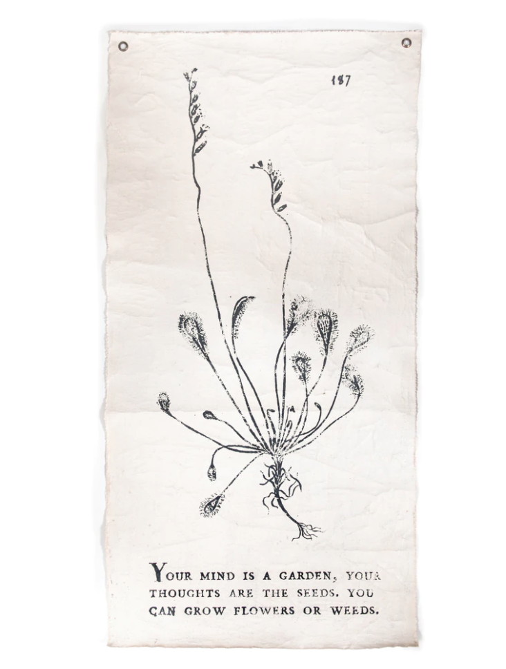 """Sugarboo & Co. Your Mind Is A Garden Tarp - 32"""" x 63"""""""