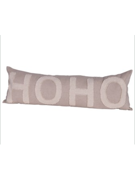 "Ho Ho Ho Lumbar Pillow 36""x12"""