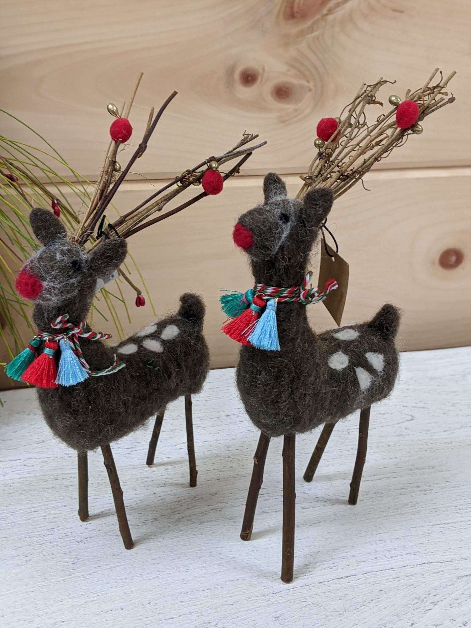Felt Deer w/ Twig Antlers