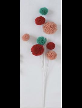 """28"""" Pom Pom Branch Multi Color"""