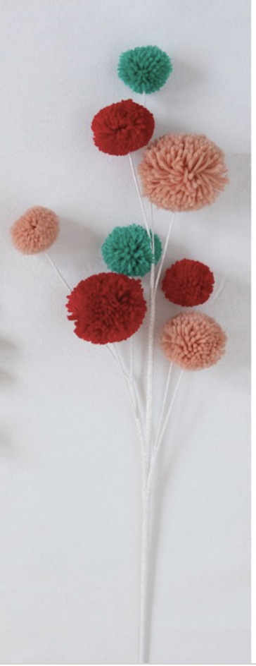 "28"" Pom Pom Branch Multi Color"