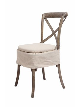 X-Back Chair Cushion - Oatmeal Linen