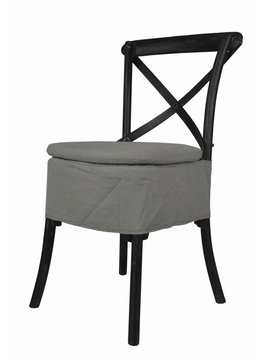 X-Back Chair Cushion - Dry Grey Oatmeal Linen