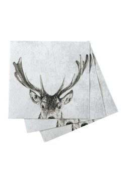 Snowy Deer Paper Napkin pack