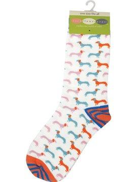 Dachshund Blue Socks
