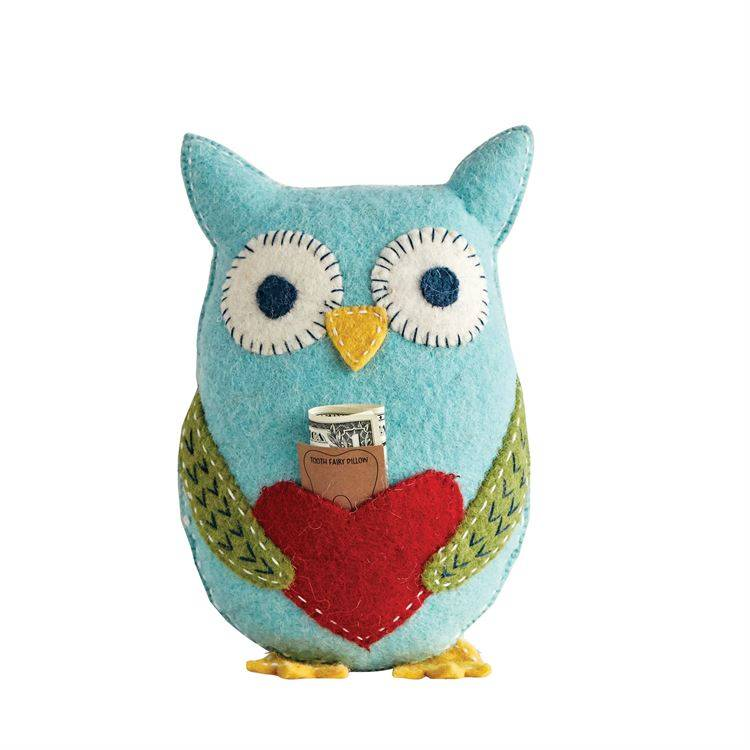 Wool Owl Tooth Fairy Pillow