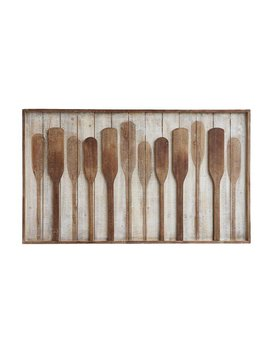 Raised Paddle Wall Art