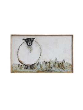 Canvas Sheep Wall Decor