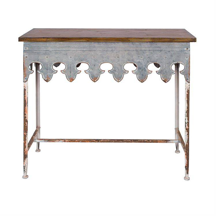 Metal Scalloped edge table