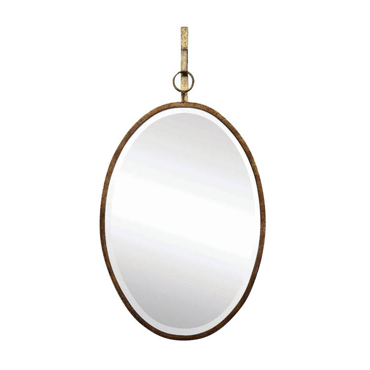 Metal Framed Oval Wall Mirror