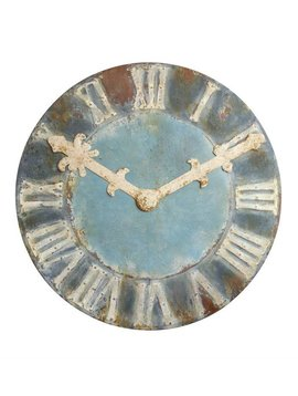 Decorative Distressed Metal Clock