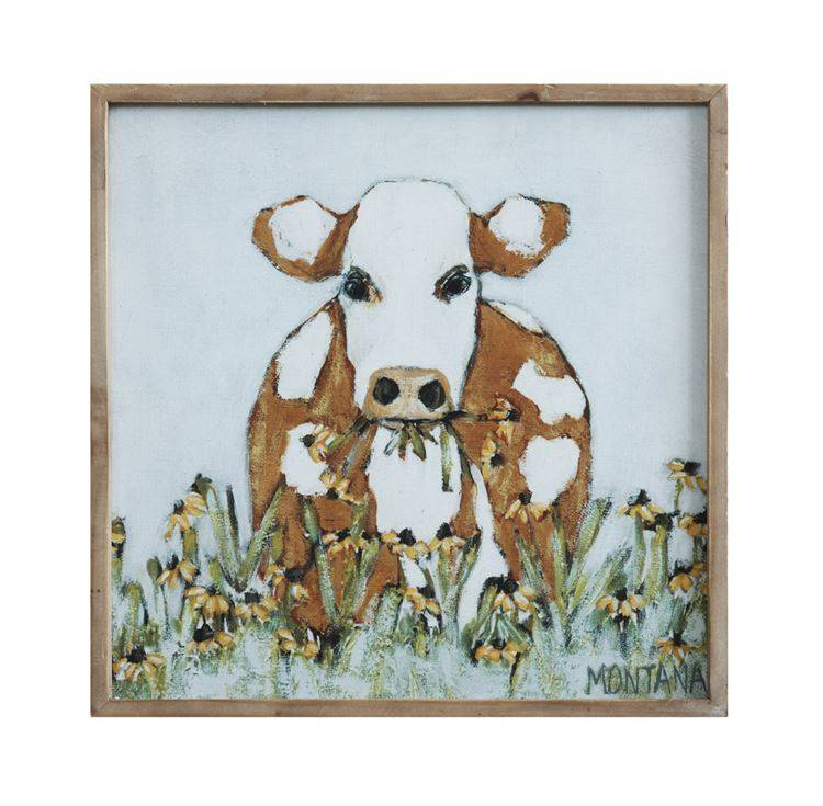 Cow Canvas Wall Decor