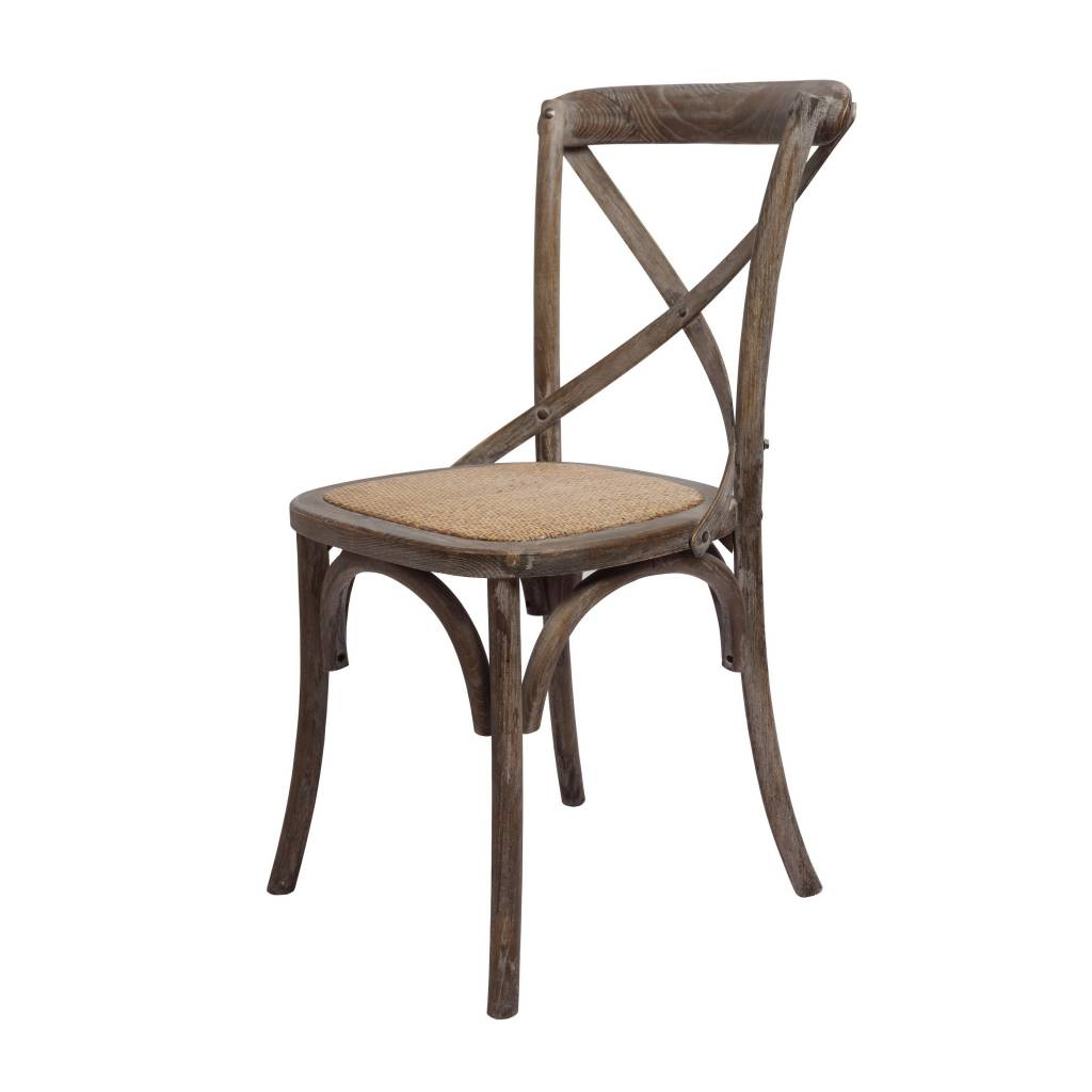 Brody X Back Side Chair - Brown Wash
