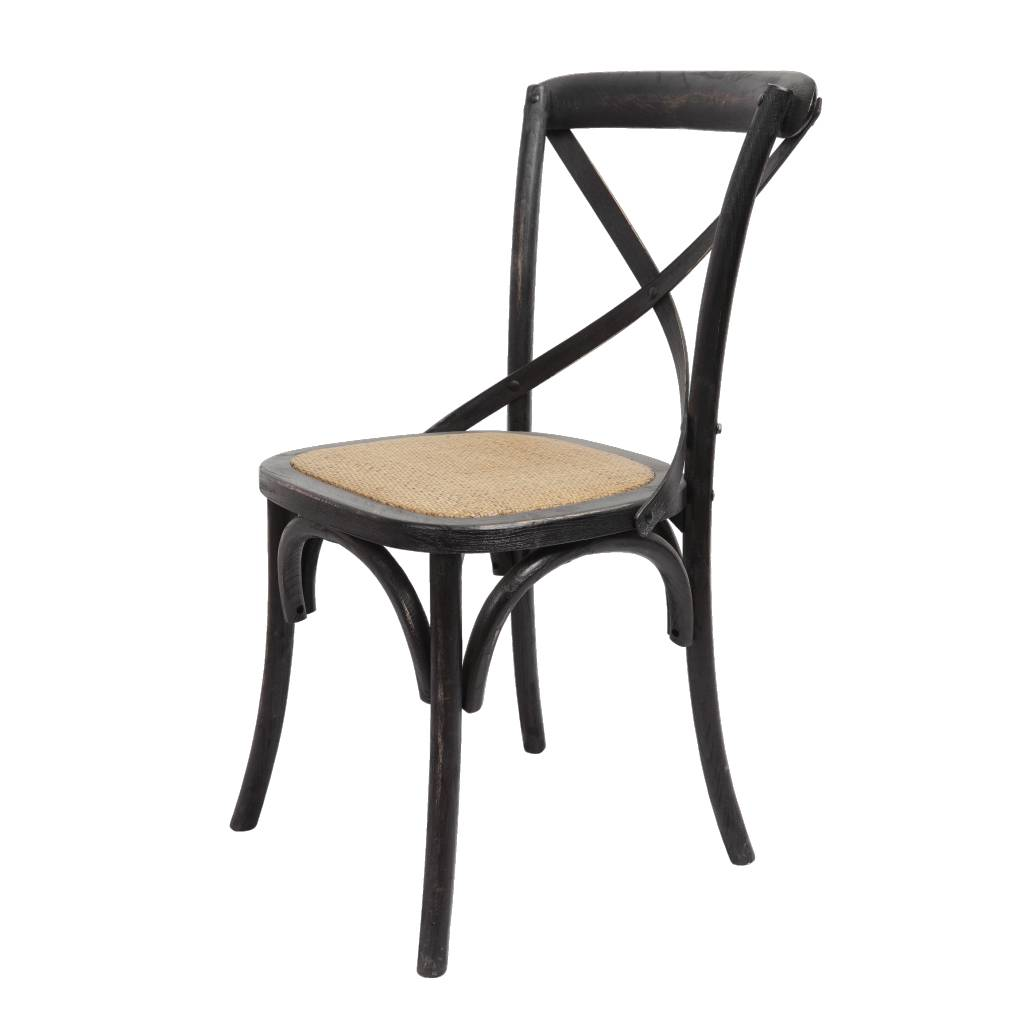 Brody X Back Side Chair - Black Wash