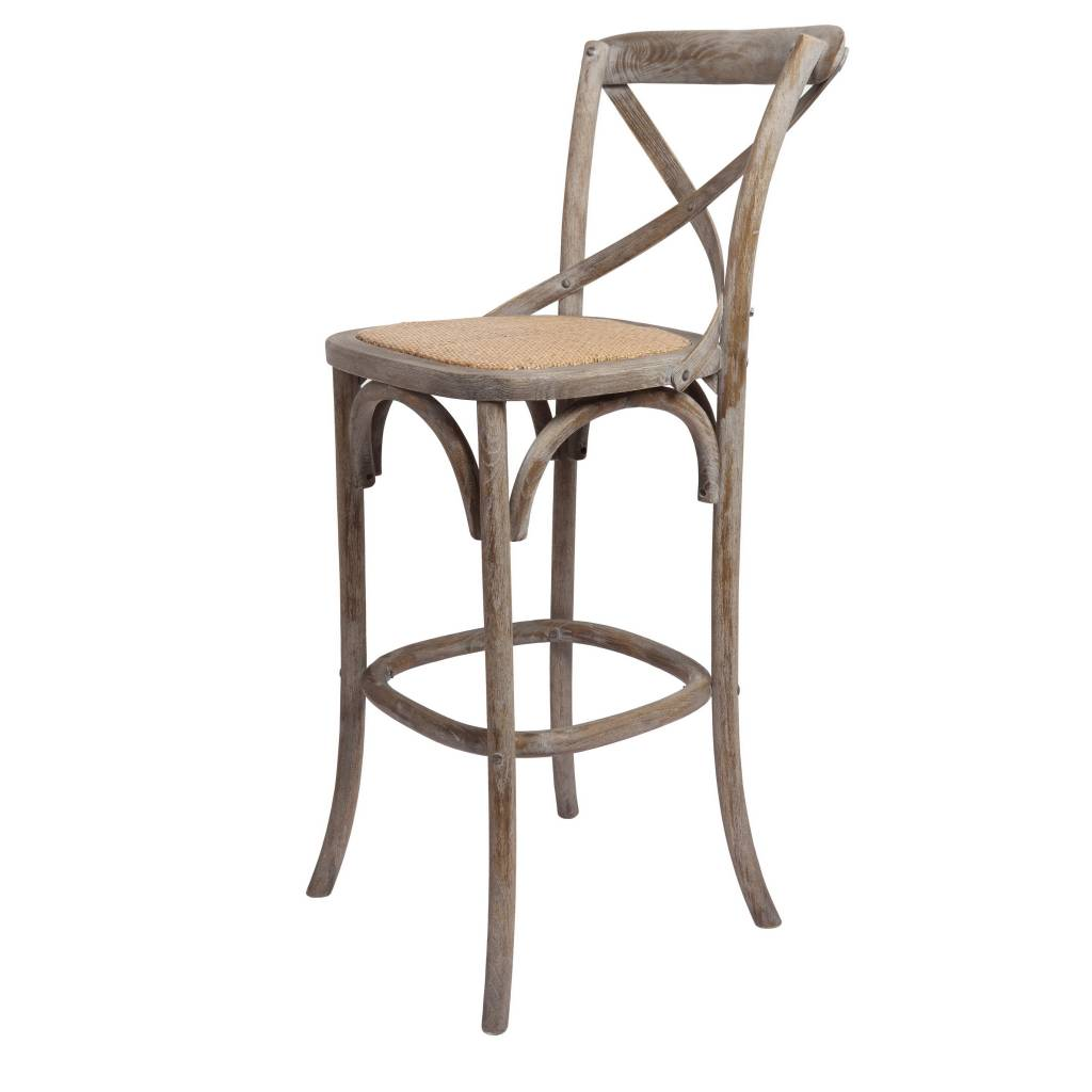 "Bennett 30"" X-Back Stool - Brown Wash"