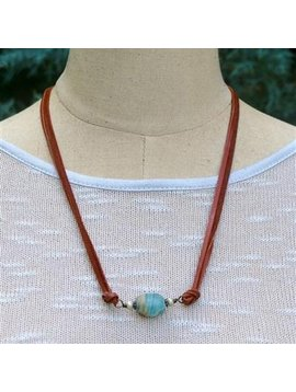 """Take a Hike"" Adjustable Necklace/Bracelet Wrap - Journey - Blue"