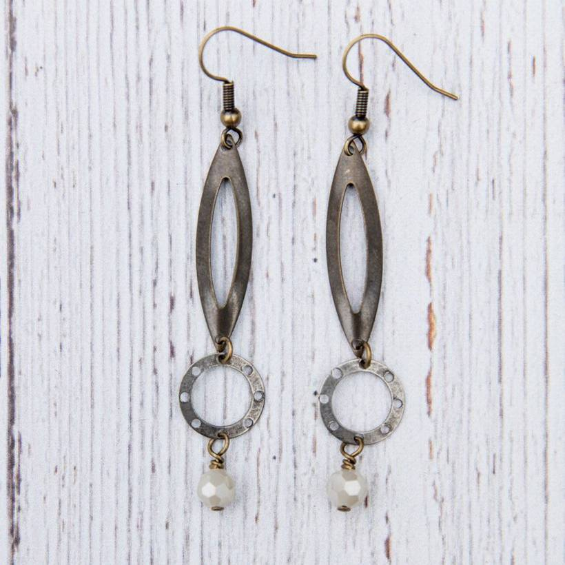 Metal Tear Drop Earrings - True Elements