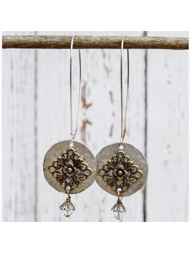 Long Hanging Filigree Earrings