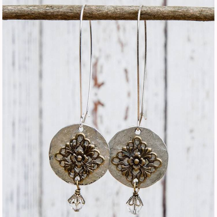Long Hanging Filigree Earrings