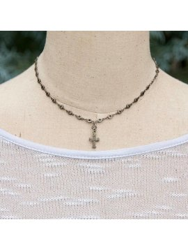 Joy Cross Necklace - Gunmetal