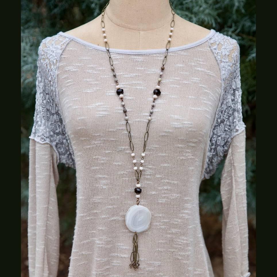 Full Moon Tassel Necklace