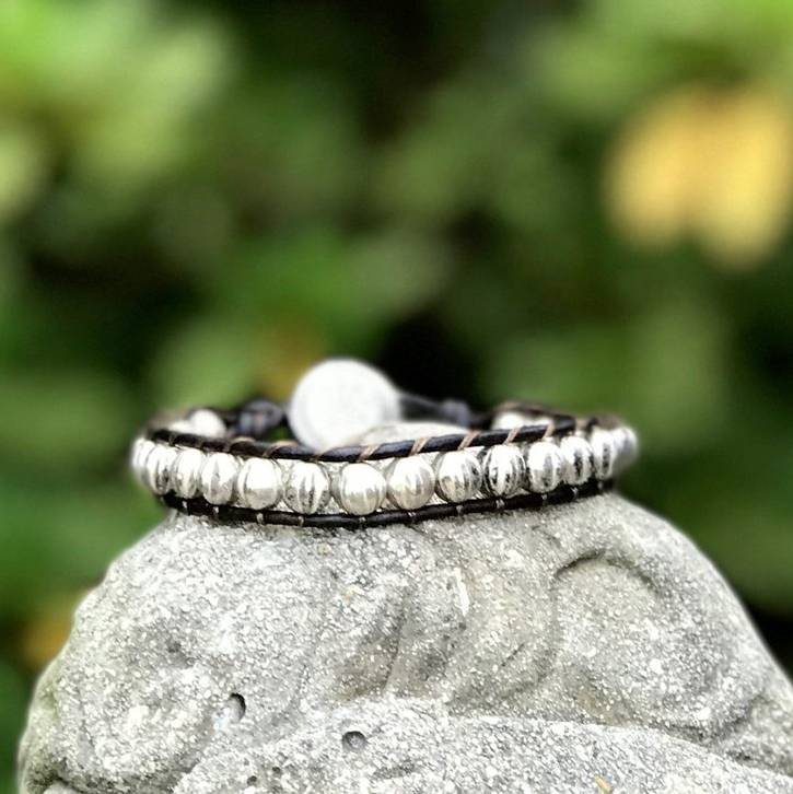 Czech Crystal Threaded Wrap